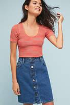 Just Female Denim Button-Front Skirt