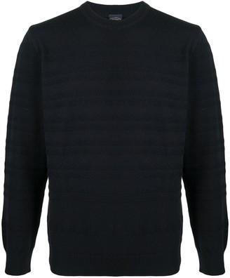 Paul & Shark Horizontal-Ribbed Crew Neck Sweater