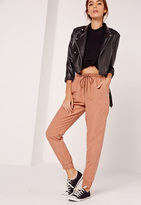 Missguided Peached Touch Joggers Tan