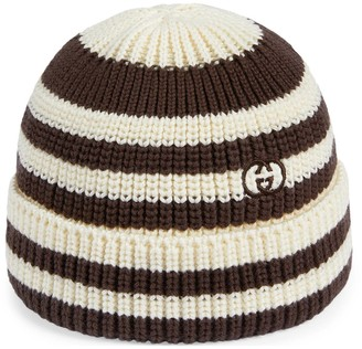 Gucci Children's striped knit cotton hat