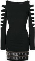 Philipp Plein cut out sleeve dress