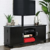 Walker Edison Black 60-inch Wood TV Stand with Mount