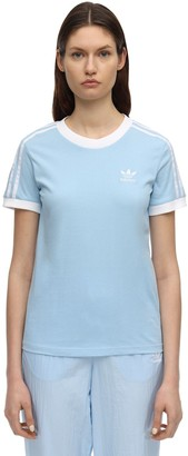 adidas Striped Logo Cotton T-shirt