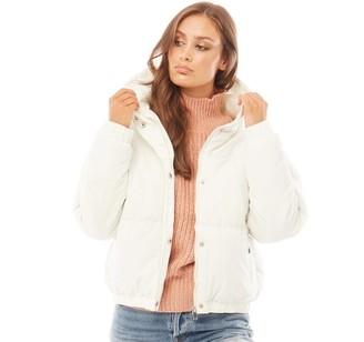 Brave Soul Womens Fernie Peach Jacket Off White