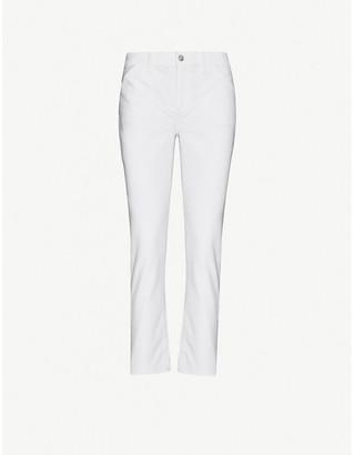 Paige Brigitte tapered mid-rise stretch-denim jeans