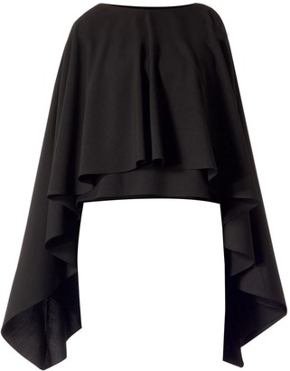 Meem Label Ciel Black Cape Top
