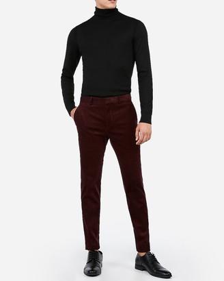 Express Extra Slim Burgundy Corduroy Suit Pant