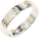 Cartier 18K White Gold Mini Love Ring Size 4.5