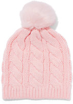 New York & Co. Cable-Knit Pom-Pom Hat