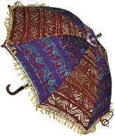 Lal Haveli Indian Handmade Silk Umbrella Party Decorations 24 X 28 Inches