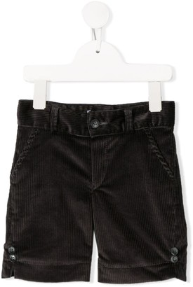 Siola Button-Embellished Corduroy Shorts