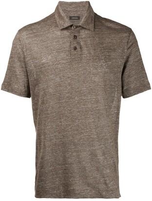 Ermenegildo Zegna melange knit polo T-shirt