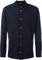 Zanone spread collar shirt