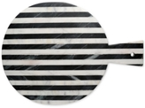 Thirstystone Old Hollywood Striped Marble Round Serving Board