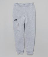 CB Sports Heather Gray & Black Zip Pocket Sweatpants - Tween