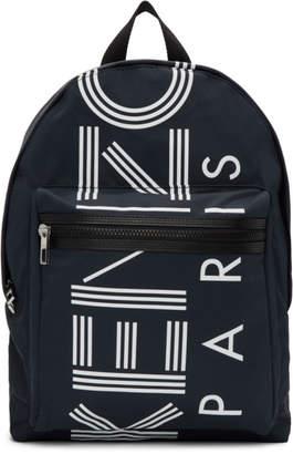 Kenzo Navy Large Logo Backpack