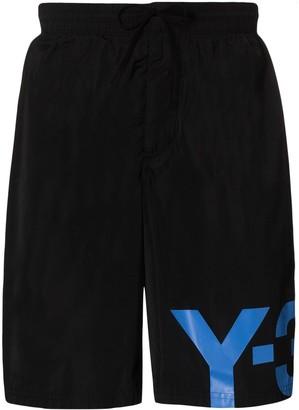 Y-3 Logo-Print Swim Shorts