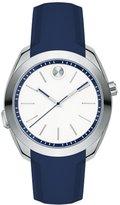Movado Women's 39mm Blue Silicone Band Steel Case Swiss Quartz Watch 3660011