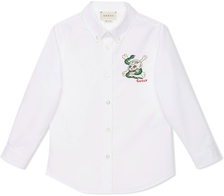 Gucci Kids embroidered button-down shirt