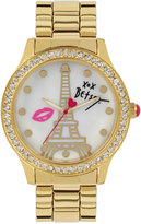 Betsey Johnson Women's Gold-Tone Bracelet Watch 42mm BJ00131-86