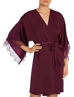 Midnight Bakery Rose Noir Satin Wrap Robe