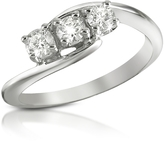 Forzieri 0.315 ct Three-Stone Diamond 18K Gold Ring