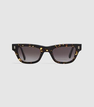 Reiss Aki - Monokel Eyewear D-frame Sunglasses in Dark Brown