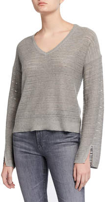 Splendid Hermosa Heathered V-Neck Pullover