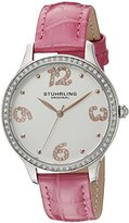 Stuhrling Original Women's 560.03 Symphony Analog Display Quartz Pink Watch