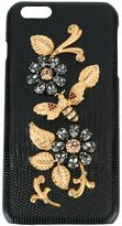 Dolce & Gabbana embellished iPhone 6 Plus case - women - Leather/glass/Metal (Other) - One Size