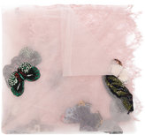 Valentino lace butterfly appliqué scarf