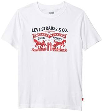 Levi's Kids Graphic T-Shirt (Big Kids) (White) Boy's T Shirt