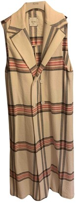 BEIGE Non Signe / Unsigned Cotton Dress for Women