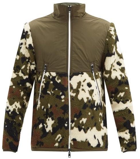 Moncler Reversible Camouflage-print Fleece Jacket - Green Multi