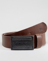 G Star G-Star Daber Leather Belt In Brown