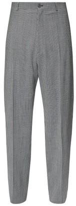 Balenciaga Checked Wool-blend Wide-leg Trousers - Grey