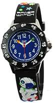 Baby Watch Baby Educational 606009 – Space Watch – Boys Watch – Quartz – Blue Dial – Black Plastic Strap