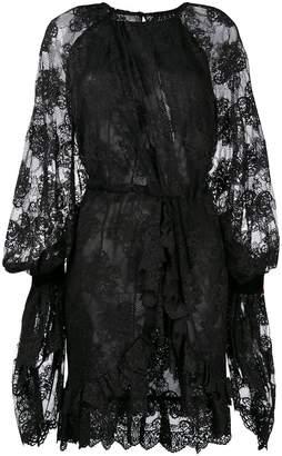 Christian Pellizzari Asymmetric Lace Dress