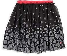 Billieblush Little Girl's Heart Print Tulle Skirt