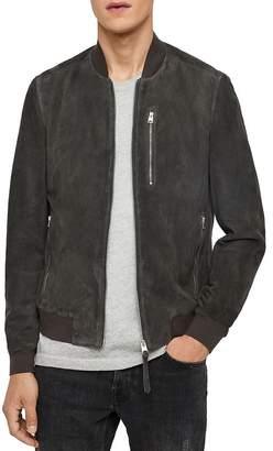 AllSaints Kemble Suede Slim Fit Bomber Jacket
