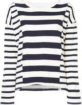Closed striped jumper