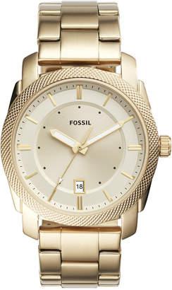 Fossil Men Machine Gold-Tone Stainless Steel Bracelet Watch 42mm FS5264