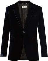 Saint Laurent Peak-lapel velvet blazer