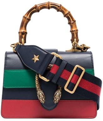 Gucci blue green and red Dionysus Mini Top Handle Bag