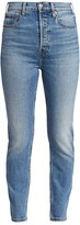 RE/DONE Comfort Stretch Ultra High-Rise Ankle Skinny Jeans