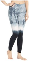 Hard Tail Flat Waist Lace Back Leggings (Crystal Dip-Dye # 1) Women's Casual Pants
