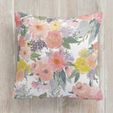 Minted Bold Watercolor Floral Square Pillow
