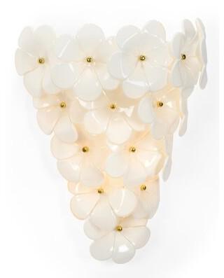 Chelsea House Glass Flower 3-Light Flush Mount