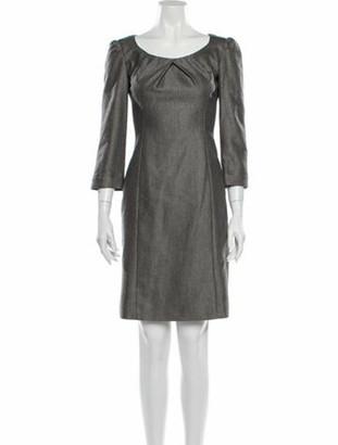Armani Collezioni Tweed Pattern Mini Dress Grey