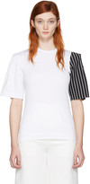 Facetasm Ssense Exclusive White Striped Sleeve T-shirt
